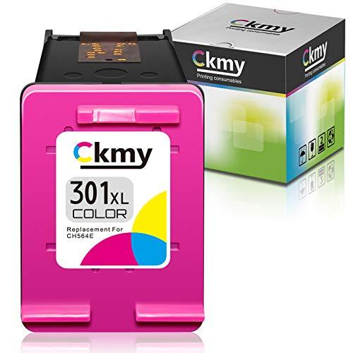 CKMY 301 XL Farbe Remanufactured Druckerpatronen Ersatz für HP 301XL Tintenpatronen für HP Envy 5530 4500 5532 4507 Deskjet 2540 2542 2549 1510 1010 1512 2050 Officejet 2620 4630 2622 (1 Farbe)