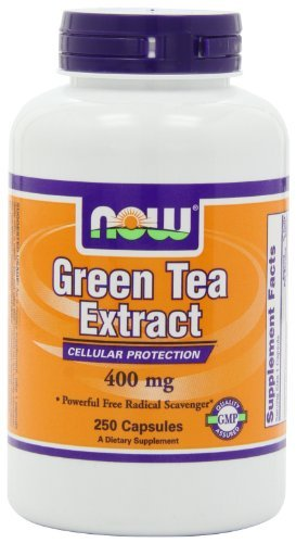 Now 400mg Green Tea Extract Supplement 250 Capsules