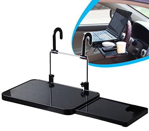 SAFLYSE Multifunktion Auto Laptop Klapptisch Tischhalterung Autohalter mit Schublade für Auto Rücksitz Kopfstütze und Lenker