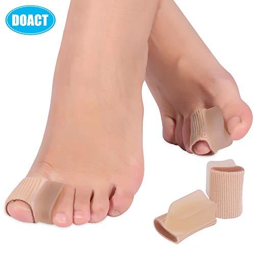 Doact 4pcs separadores dedo del pie Hallux Valgus Corrector almohadillas de gel, pulgar juanete férulas protección separación de los dedos del pie, enderezadoras para alivio dolor mujeres y hombres