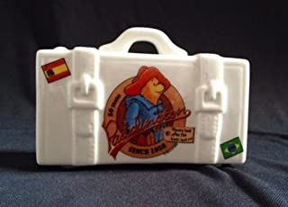 Reutter Germany 2008 50 Years Since 1958 Porcelain Paddington Bear Traveller Suitcase Bank