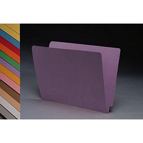 14PT 라벤더 폴더 전체 컷 2 겹 끝 탭 편지 크기(50 상자)