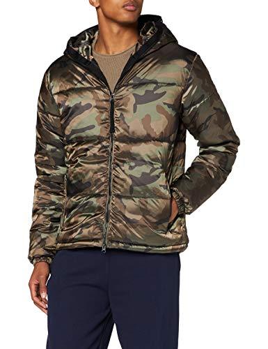 True Religion Herren NO DOWN Hooded Jacket Camouflage Thermojacke, XL