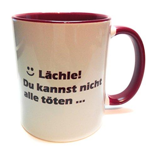 Dreamlife Kaffee- /Teetasse Lächle! Du Kannst Nicht alle töten mit Geschenkskarte