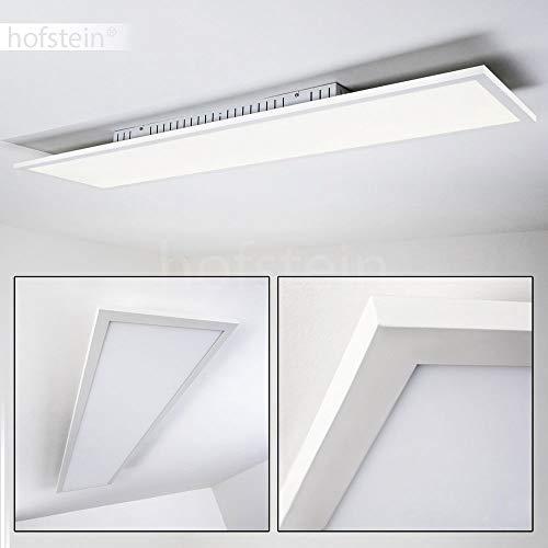 LED Deckenpanel Salmi, längliche Deckenleuchte in weiß, 40 Watt, 3200 Lumen, Lichtfarbe 3000 Kelvin, moderne Deckenlampe aus Metall