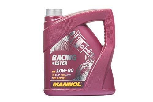 MANNOL Racing+Ester 10W-60 API SN/SM/CF Motorenöl, 4 Liter