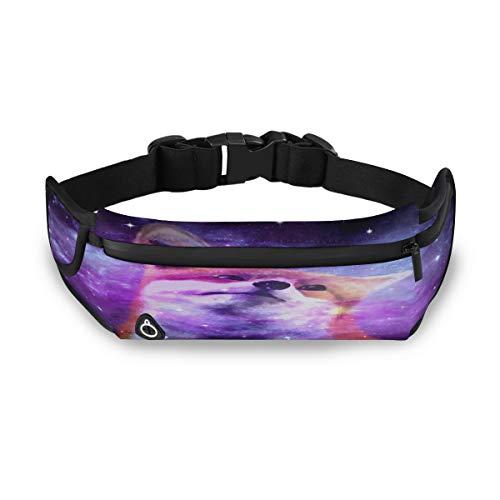 ZZXXB Fox Galaxy Nebula Sac Banane de Course à Pied résistant à l'eau pour Homme Femme Course à Pied Entraînement Voyage Jogging Randonnée Cyclisme