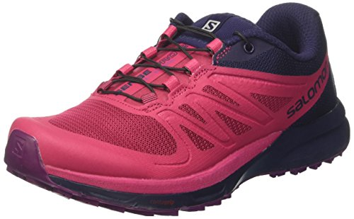 SALOMON Sense Pro 2 W, Chaussures d'escalade Femme, Multicolore (Sangria/Evening Blue/grj), 36 2/3 EU