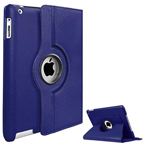 FSPRO 360 Rotate Case Cover for Apple iPad Air 1st Gen 2013 (A1474 / A1475 / A1476) & iPad Air 2nd Gen 2014 (A1566 / A1567) with Auto Sleep/Wake Functionality. (Blue)