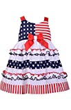 Bonnie Jean 4th of July Ruffle Flag Dress (3-6 Months)