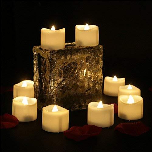 XXLYY 96pcs Velas pequeñas LED con Temporizador Luces de té eléctricas Blancas...