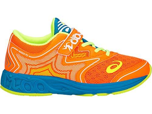 ASICS Kid's Noosa PS Running Shoes, 3, Shocking Orange/Flash Yellow