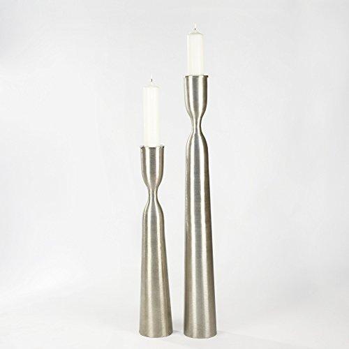 Lambert Zaza Stehleuchter Aluminium gebürstet klein H105cm Metallaccesoires, Silber, One Size