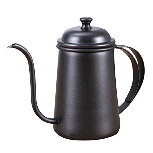 HNLZGL 650ml Kaffee Drip Kettle-Qualität verdickte Edelstahl-Tee-Kessel-Gooseneck Kettle-für handgemachte Dripping-Kaffee-Tee (Multicolor)