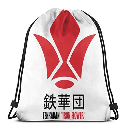 Tekkadan - Mochila de hierro con diseño de huérfanos con cordón para gimnasio, paquete de cincha sólido