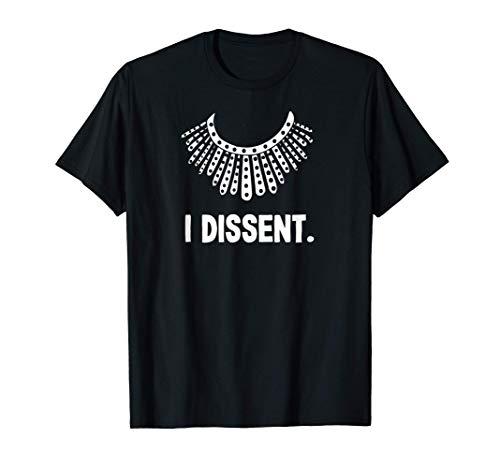 Ich widerspricht Kragen RBG Ruth Bader Ginsburg Geschenk für T-Shirt