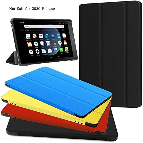 Kindle Fire HD8 Tablet Case (7ª Generación, 2017 Release Only), zerhunt Ligero Slim Funda Shell con Smart Auto Encendido/Apagado para Fire HD 8 Negro
