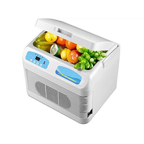 YLG Elektrische koelbox, koel- en verwarmingsfunctie, draagbare mini-koelkast, inhoud 12 liter