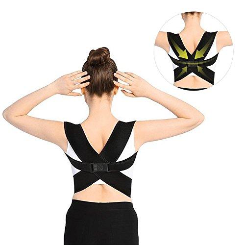 Posture Corrector 3 In 1 X-Mode Regolabile Super-elasticità Supporto Clavicola posteriore Spalla e torace Raddrizza Indietro Stretching Cand per uomini e donne