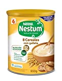 Nestlé Papillas NESTUM - Cereales para bebé, 8 cereales con galleta - 3 x 650 g - Total: 1.95 kg
