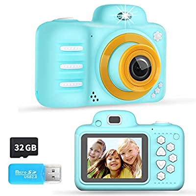 Kids Digital Camera, 12MP Kids Camera with 2.4 Inch Large Screen 1080P Pink Kids Video Camera Best Birthday Gift for Kids Include 32G Memory Card… by XFTek