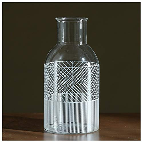 Moderne onbelangrijke zwart-wit applicaties transparante glazen vazen restaurant tafelblad hydroponische lililielie bloemenvaas vaas glas