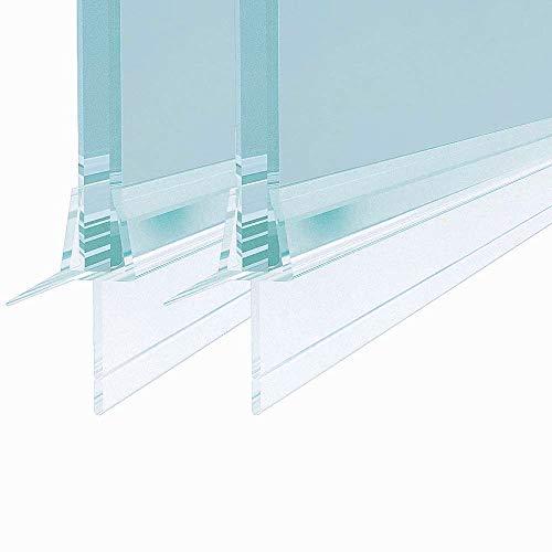 2 Stück Ersatzdichtung Wasserabweiser Duschdichtung Spritzschutz Bad Dusche(Für glasdicke 4-6mm) 1000mm