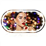 OEAYZOM Car Visor Vanity Mirror, Rechargeable Car Makeup LED Mirror, 3 Light Mode Car Vanity Mirror Type-C Powered, Clip-on Vanity Mirror for Women (White)