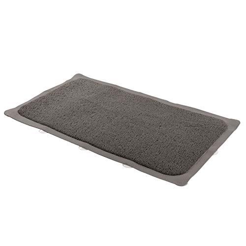 Amazon Basics, tappetino antiscivolo per vasca, motivo luffa, grigio chiaro, 75 x 43 cm
