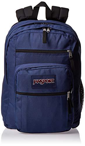 JANSPORT Mochila escolar grande, Unisex adulto, Mochila Big Student, JS0A47JK, azul marino, talla única