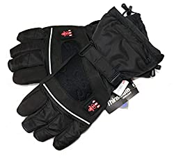 Thermrup Heated Gloves with 4 stages temperature controller, water-repellent breathable with Thinsulate 3M, battery operation (M)