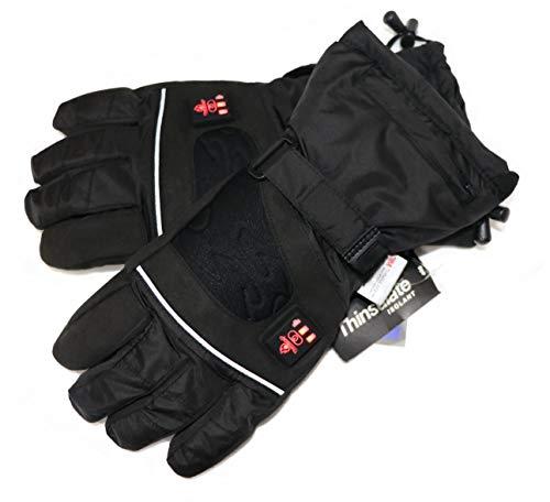 Thermrup Beheizbare Handschuhe mit 4 Stufen Temperaturregler, wasserabweichend atmungsaktive mit Thinsulate 3M, Akkubetrieb (L)