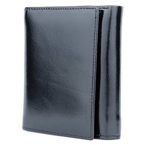 ZhiGe Portmonee Damen Frauenbrieftasche Damenbörse,Damenbörse, Kopf Schicht Wachs Haut Dame Geldbörse kurz Bi-Öl Wachs-prozentige Brieftasche 9,8 * 2,5 * 11.6 cm