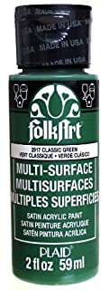 FolkArt Multi-Surface Paint in Assorted Colors (2 oz), 2917, Classic Green (B00CIW3S8Y)   Amazon price tracker / tracking, Amazon price history charts, Amazon price watches, Amazon price drop alerts