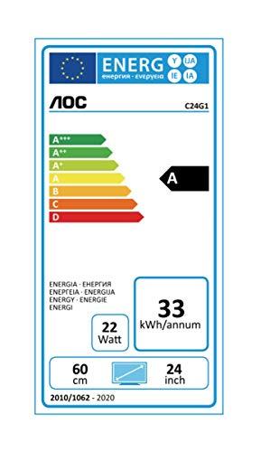 AOC Gaming C24G1 59,9 cm (23,6 Zoll) Curved Monitor (FHD, HDMI, 1ms Reaktionszeit, DisplayPort, 144 Hz, 1920 x 1080 Pixel, Free-Sync) schwarz - 9