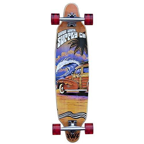 Longboard Shaun White Patrol - ABEC 5 - Ahornholz Maple - Komplettboard 91,5 x 23 cm Skateboard, vom Weltmeister und Olympiasieger designed, entwickelt und getestet