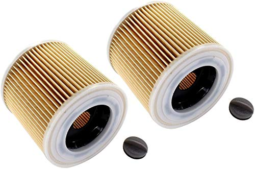 SYCEZHIJIA Piezas de Repuesto para cortacésped 2 x filtros de Cartucho para Kärcher SE 4001 4002 aspiradora, WD 2.200, WD 3.200, WD 3.300 M