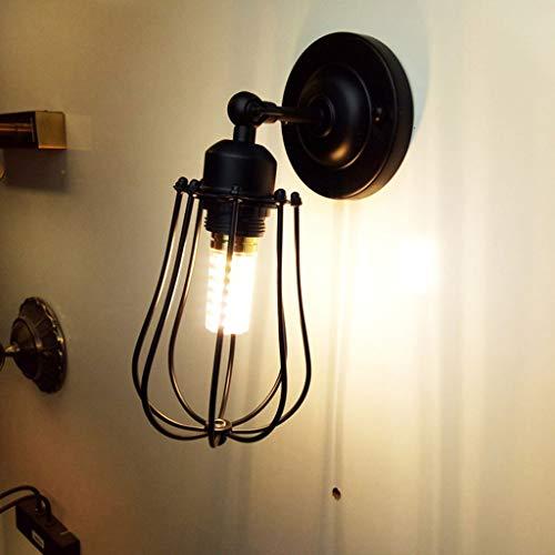 XL Applique en métal industrielle murale tête de lit vintage chambre ferme ferme garage porte porche luminaire (Couleur : NOIR)