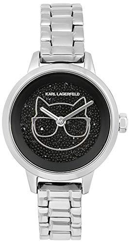 Karl lagerfeld Jewelry ikonik Damen Uhr analog Quarzwerk mit Edelstahl Armband 5513059