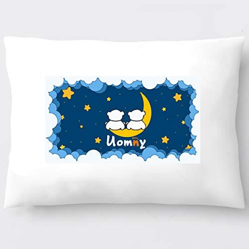 Toddler Pillow 13x18 UOMNY Kids Pillow 100% Cotton 1Pack Fits Toddler Size 13x18 Toddler Pillow for Kids Bedding