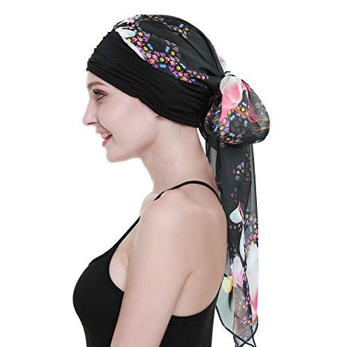 FocusCare Chemo Haare Turban für Krebs Frauen Kopf Wickeln schals Lange Haare perücke zubehör