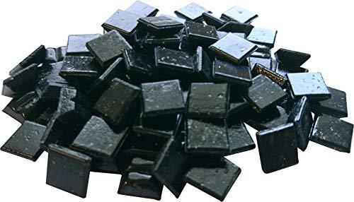 Fliesenhandel Fundus Mosaico de cristal (1 kg, 1 x 1 cm, 1500 unidades, 10 x 10 unidades), color negro