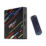 SSRSHDZW TV Box 4K Red Set-Top Box Caja de Colores Android 9.0 USB3.0 Penta-Core Mali-450 hasta 750MHz + Home Media Player Dual Band Band & Voice Remote Control,2gb+16gb