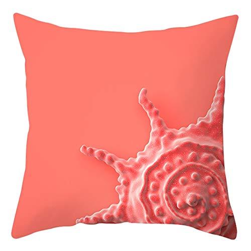 KnBoB Funda de Almohada Poliéster Coral Concha 45 x 45 cm Estilo 8