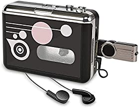 Rybozen Cassette Player , Portable Converter Recorder Convert Tapes to Digital MP3 Save into USB Flash Drive/ No PC Required