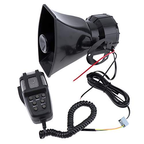 takestop Sirena centralita HW_1005 7 canales 100 W impermeable alarma con micrófono Megafono, varios tonos, control de emergencia coche 12 V