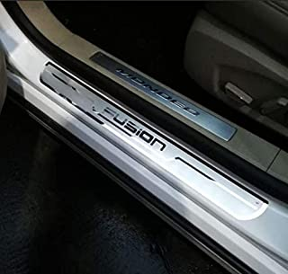 Weigesi Car Stainless Steel Door Sill Scuff Plate for Ford Fusion 2014-2019
