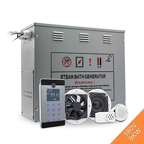 MICHEN 9KW / 380V in Ottone Scarico Automatico Doccia generatore di Vapore Umido Sauna a Vapore Accessori Bluetooth Spa Bagno ozono sterilizzatore per Bagno Turco