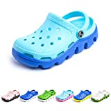 Zuecos Niño Playa Piscina Sandalias Niña Goma Zapatillas Casa Verano Zapatos Mules Jardin Clogs Plástico Ducha Cerrados F Azul Claro 30 EU