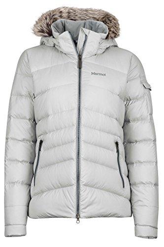Marmot Ithaca Women's Down Puffer Jacket, Fill Power 700, Glacier Grey, Small